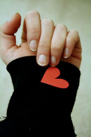 heart on her sleeve